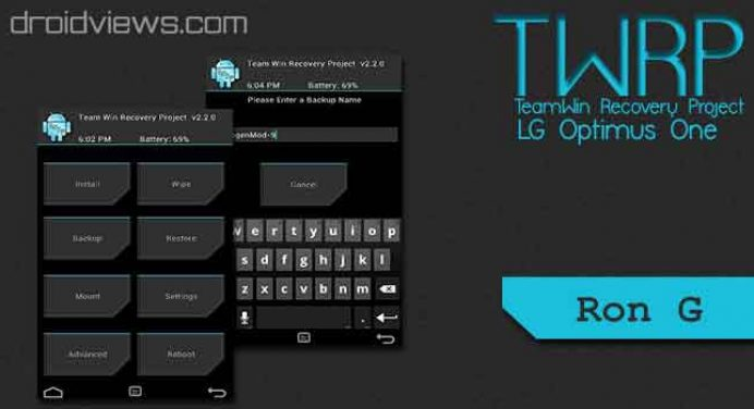 TWRP 2.2.2.1 Unofficial Recovery For LG Optimus One