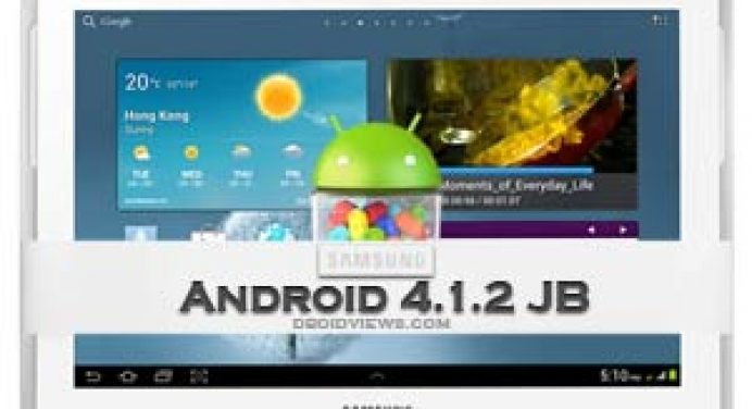 Samsung Galaxy Tab 2 10.1 GT-P5100 (3G + WiFi) Gets Android 4.1.2 Jelly Bean Update