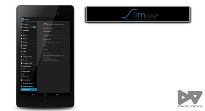 Couldn't wait more? Install SlimBean Alpha ROM on Nexus 7 2013 Edition (flo)