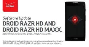 Verizon Droid Razr HD and MAXX HD Update Incoming (Still Android 4.1.2)