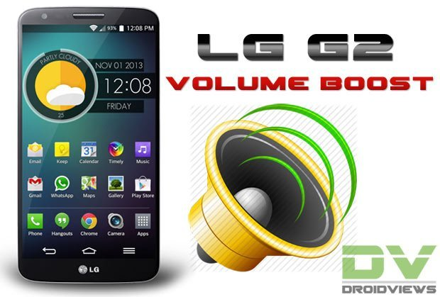 How to Boost the Speaker and Headphone Volume on LG G2 (All Variants)