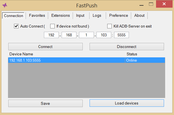 fast-push-connection