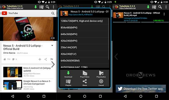 How to download youtube videos on android devices and computers videos using tubemate youtube download tubemate ccuart Gallery