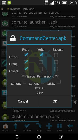 set-permission-root-browser
