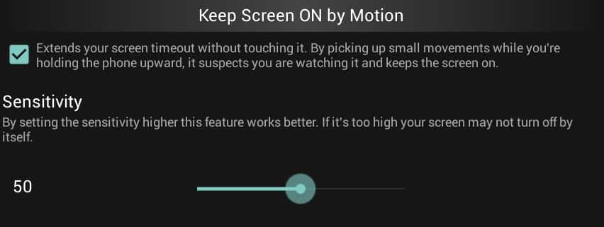 keeping the screen on