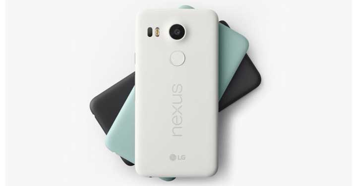 Colors available for the Nexus 5X