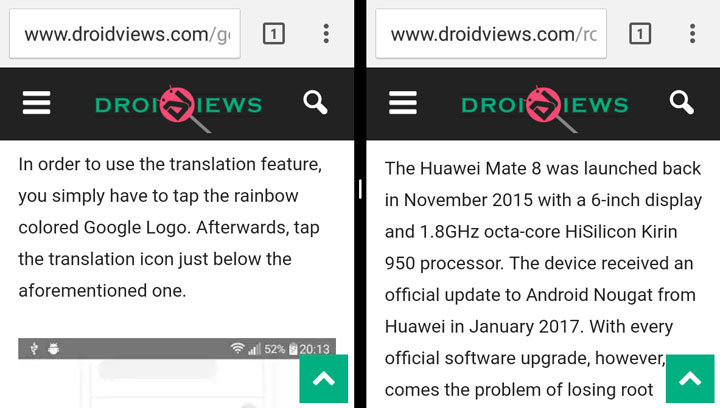 Run Two Chrome Tabs Side-By-Side on Android