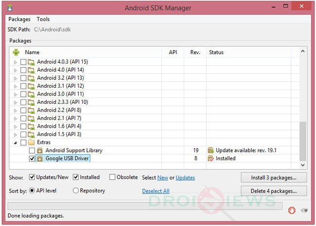 android sdk usb drivers