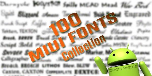 Custom Fonts for MIUI ROM