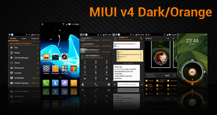 Vexillum Project MIUI V4 - Vexillum Project In Orange And Dark Theme - Droid Views