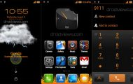 Fire In The Night - Black And Orange MIUI V4 Theme - Droid Views