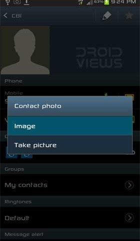 Adding Photo to Contacts