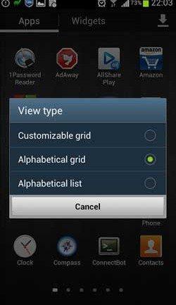 S3 app grid view