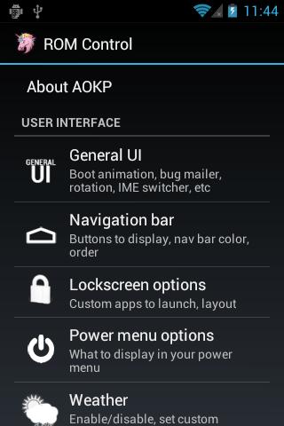 aokp rom options
