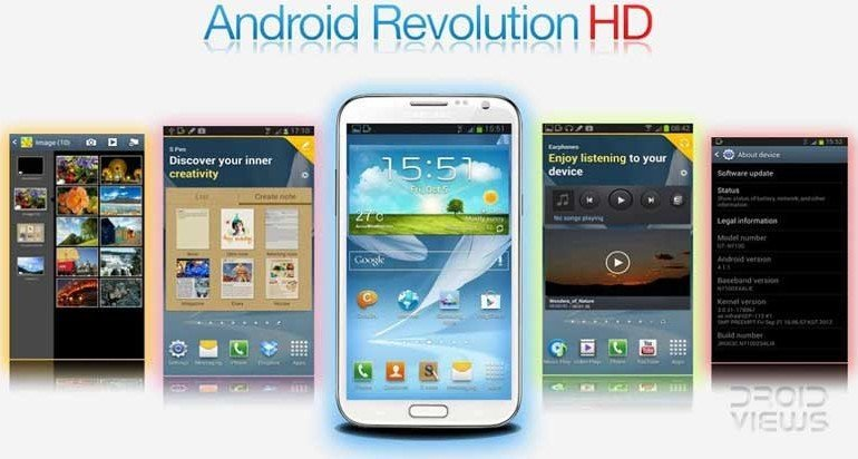 Custom ROMs For Samsung Galaxy Note 2 GT N7100 - Android Revolution HD - Droid Views