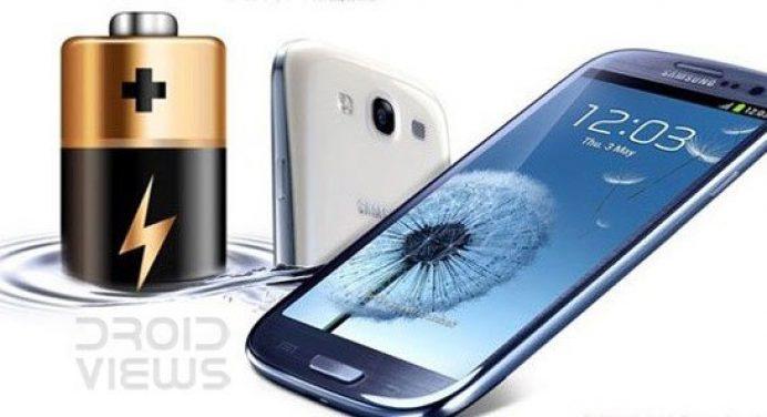Samsung Galaxy S3 Battery Life - Samsung Galaxy S3 Showing Battery - Droid Views