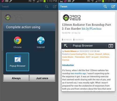 note 2 pop-up browser