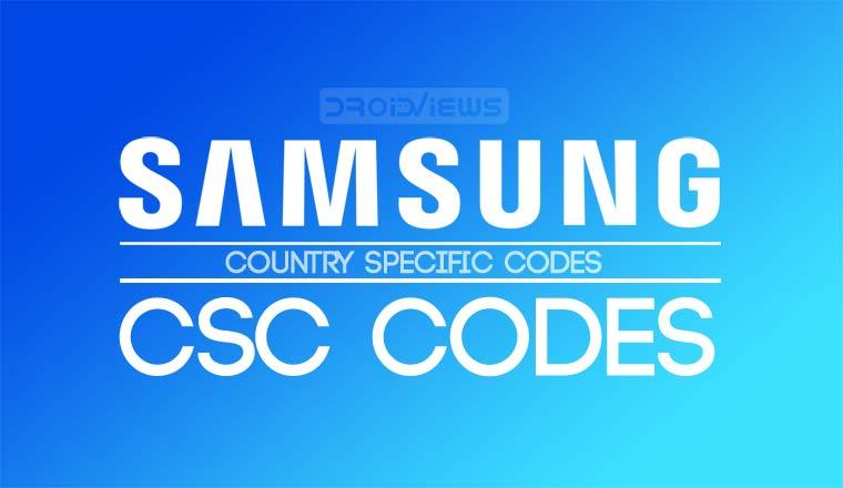 samsung csc codes