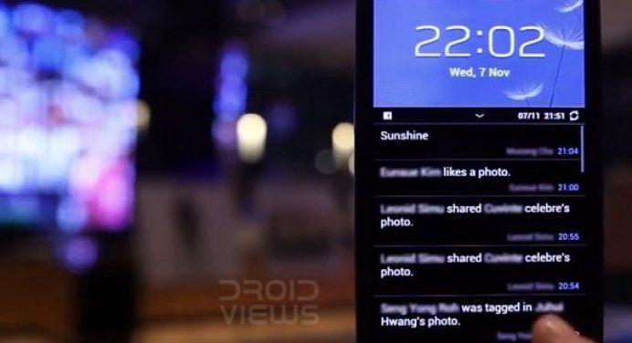 samsung lockscreen facebook ticker