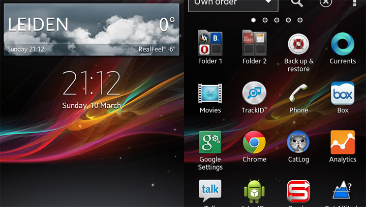 Xperia Z Launcher (2.0.5b) and Widgets
