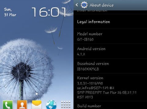 galaxy ace 2 jelly bean 4.1.2