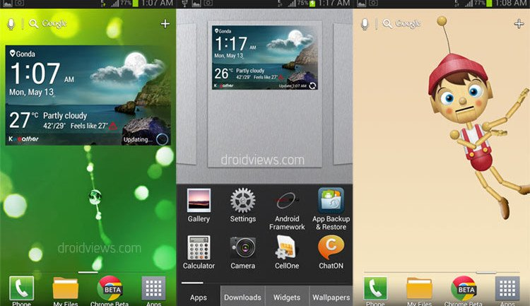 Install Optimus G Pro Launcher Widgets And Live Wallpapers On Your Android Phone