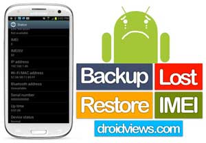 Backup and Restore Lost IMEI on Samsung Galaxy Devices without Root