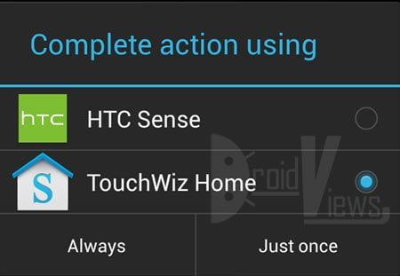 choose launcher android