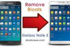 Remove Galaxy Note 3 Bloatware