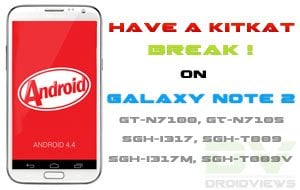 Android 4 4 KitKat ROM on Galaxy Note 2 (N7100/LTE/AT&T/TMO