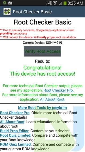 t-mobile galaxy s4 root check