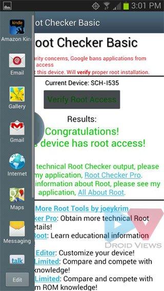 verizon s3 root check