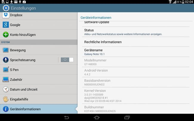 Galaxy Note 10.1 Gets Android 4.4.2 KitKat