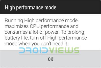 High-Performance-Mode