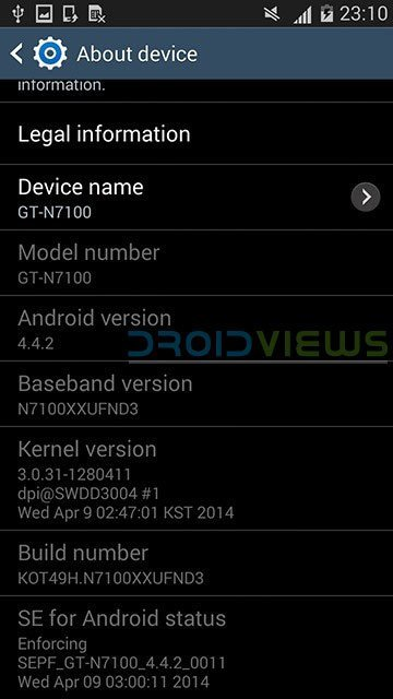 galaxy note 2 gt n7105 firmware