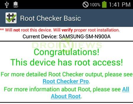 at&t note 3 root checker