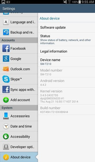 tab-3 7.0 settings