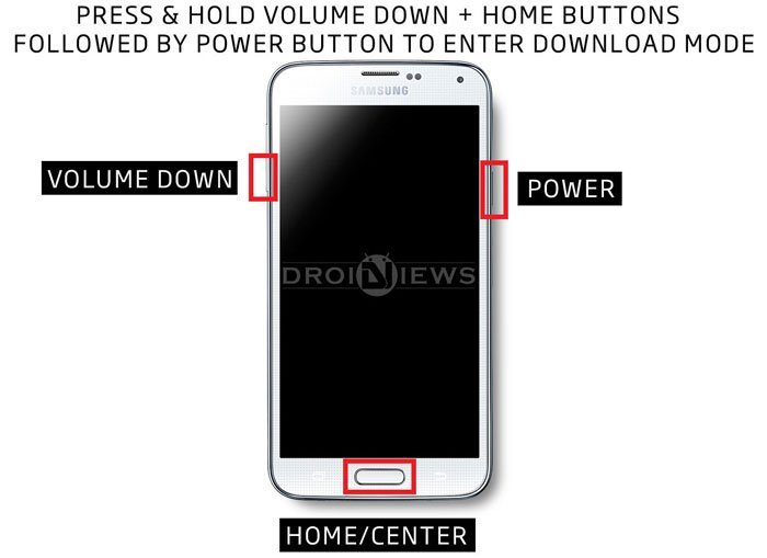 samsung download mode key combination