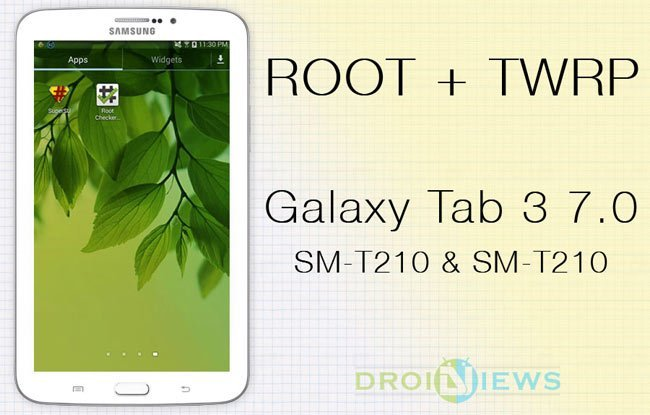 Root Galaxy Tab 3 7 0 SM-T210 & SM-T210R and Install TWRP Recovery