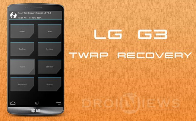 Install TWRP Recovery on LG G3 (All Variants)
