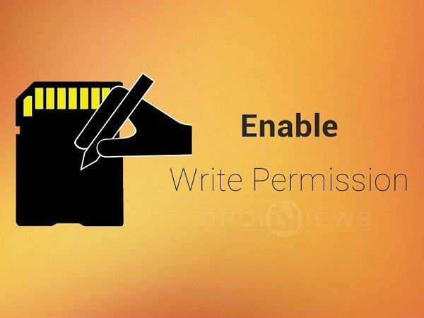 Write Access to External Storage