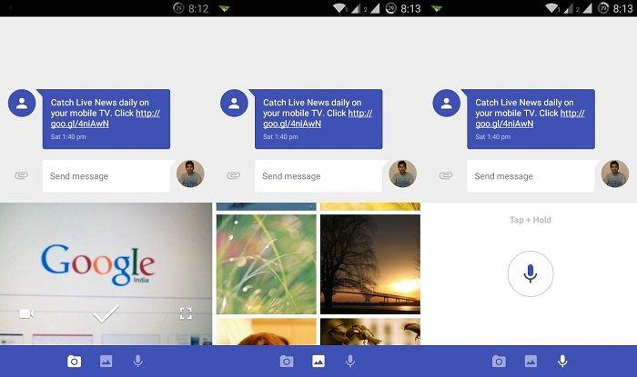 Messages app attachments