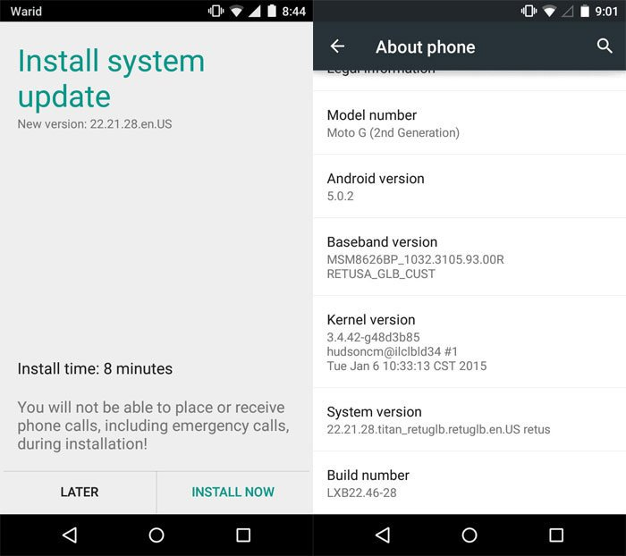 Lollipop OTA Zip on Moto G 2014 XT1063