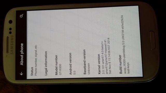 Lollipop on Samsung Galaxy S3