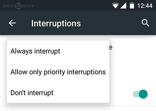 Three Different Notification Modes