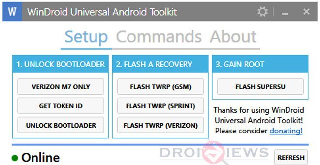 WinDroid Universal Android Toolkit Lets Unlock Bootloader
