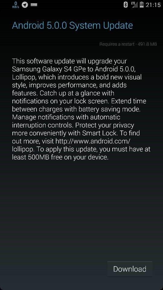 galaxy-s4-gpe-lollipop-ota-notification