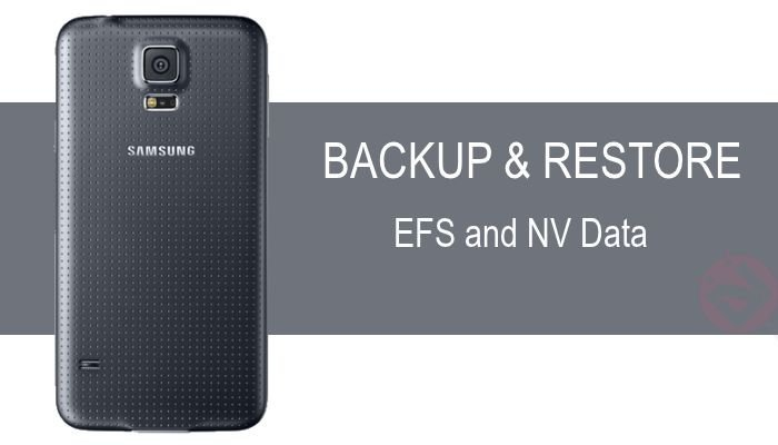 How to Backup the EFS and NV Data on Samsung Galaxy S5 Manually