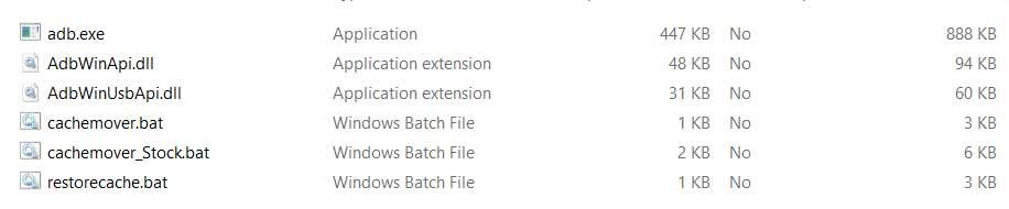 adb fastboot and script files