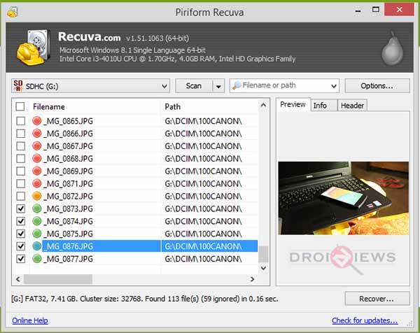Recuva-Screenshot